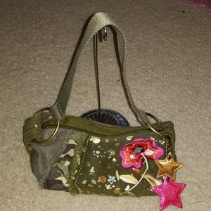 Army green small purse